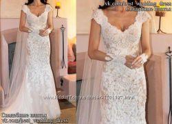 Нова Мереживна весільна сукня 2015 Русалка Emma весільний салон Bride