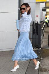 Плисированная юбка с высокой талией, в стиле Victoria Beckham