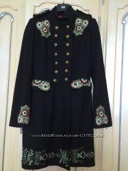 пальто драповое с аппликацией Франция