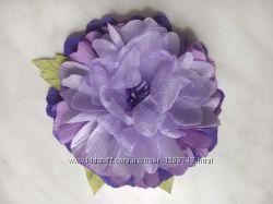Брошь-цветок ручной работы