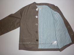 Льняной пиджак на девочку 7-8 лет