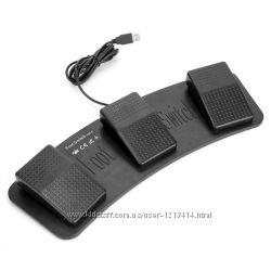 USB педаль ножной переключатель, 3 педали Foot Switch