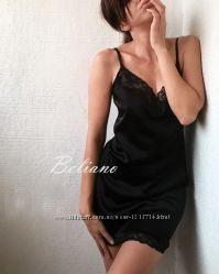 Черная сексуальная ночная рубашка ночнушка, комбинация, сорочка из шелка