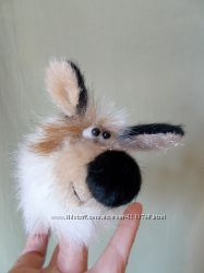 Собачка, игрушка для пальчикового театра.