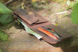 Мужской кожаный кошелек ручной работы VOILE cw1 brn