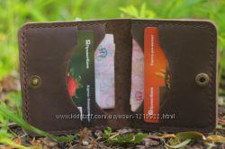 Мужской кожаный бумажник ручной работы VOILE mw3 brn