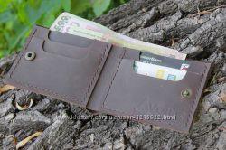 Мужской кожаный бумажник ручной работы VOILE mw4 brn