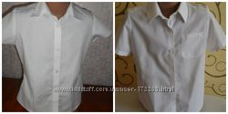 Рубашка блуза блузка классика белая школьная 6-7 лет 2 шт