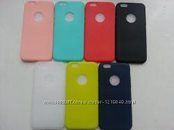 Тонкий силиконовый чехол для Iphone 6 6S 7   7 цветов