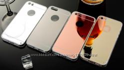 Зеркальные силиконовые чехлы iphone 5 5S 6 6S 6плюс 7 7плюс