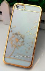 Чехол пластиколвый Clear для Iphone 5 5s