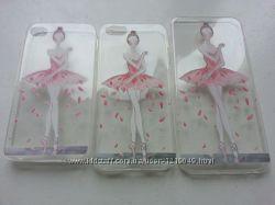Силиконовый чехол балерина для Iphone 4 4S 5 5S 6 6S