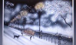 Картина из страз Прогулка по аллее.