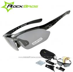 Тактические очки RockBros Polarized с 5-ти линзами