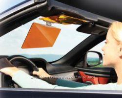 Антибликовый, солнцезащитный козырек для авто деньночь HD Vision Visor