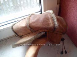 Женская теплая кепка натур. кожа, мех