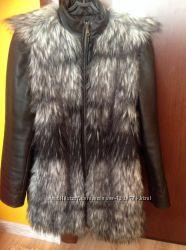 Куртка  с искусственной чернобурки
