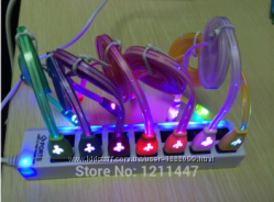 Светящийся кабель с микро USB разъемом
