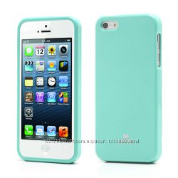 TPU чехол Mercury Jelly Color series для Apple iPhone 5, 5S