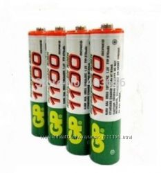 АккумуляторныЕ батарейки тип ААА GP 1100 NI-MH в наличии акция