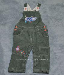 Штаны на лямках фирмы TU для мальчика 9-12 месяцев.