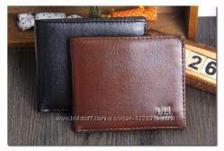 Мужской кошелек Два цвета черный и коричневый