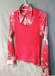Джемпер-рубашка трикотаж