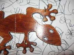 Настенная ключница Ящерица