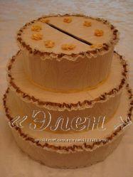 Свадебный торт - копилка Ручная работа