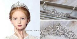 Праздничная корона для девочки, выпускной, день рожденья, танцы, фотосессия