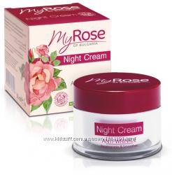 Ночной крем для лица против морщин 35 плюс, My Rose