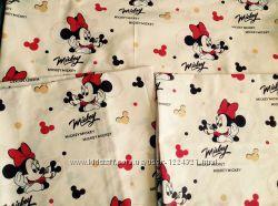 Полуторный детский постельный комплект для девочки, Мини Маус