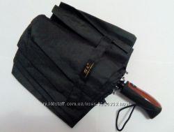 Качественный зонт. 10 двойных карбоновых спиц, антиветер