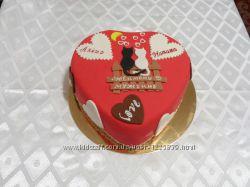 Торты в виде сердца на заказ