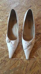 Туфли белые свадебные, размер 37