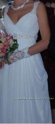 Нежное свадебное платье в греческом стиле, как новое