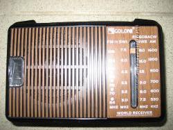 Радио FM, от сети 220 вольт или от 2-х батареек R20, фирма Голон