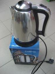 Электрочайник 2 литра, дисковый 1500-2000 Ватт, нержавейка, 220 Вольт