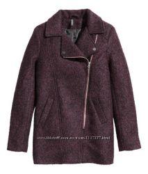 стильное пальто на молнии размер 38 H&M