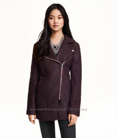 стильное пальто на молнии размер 36-38 H&M