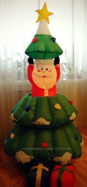 Надувная елка с подарками и Дедом Морозом внутри - 150 см