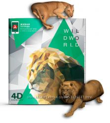 Живая тетрадь Лев  - серия дикие животные