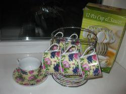 Набор из 6 чашек чайный сервиз, новый