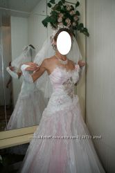 Красивое свадебное платье. Цену снизила Срочно
