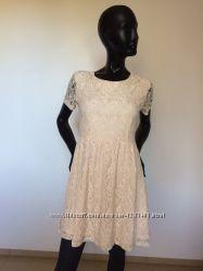 нежное гипюровое платье Forever 21, М.