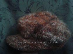 Шапка-кепка зимняя женская вязанная
