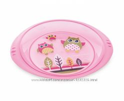 Тарелка пластиковая мелкая Sоwka Canpol Babies