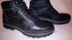 Мужские зимние ботинки, кожа натуральная, новые, все размеры до 46