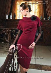 Стильное платье в модном цвете марсало
