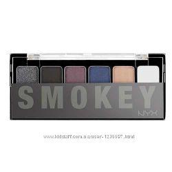 Палитра теней для дымчатого взгляда NYX The Smokey